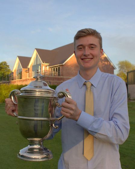 Michael Hudson-Davies with the Balfour Cup