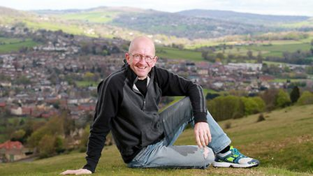 Eddie the Eagle Edwards on Selsey Common, one of his favorite places in the Cotswolds