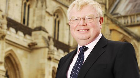 Dr Tim Brain OBE at Gloucester Cathedral