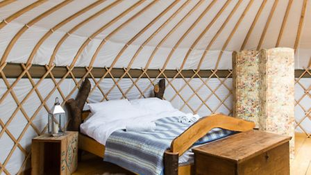 Inside one of the gorgeous holiday homes of Surrey Hills Yurts (Photo Surrey Hills Yurts)