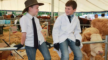Young cowboys, Jake Daley (8) and Harry Rushton (9)