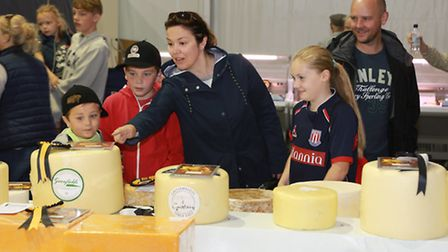 The Higgins family from Willaston visit the Cheese Show
