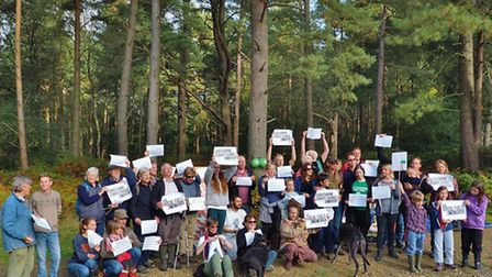 The picnic at Leith Hill's Bury Hill Woods - where oil exploration is proposed