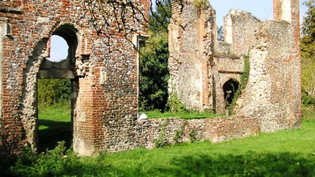 The ruins of Lee House, the 16th century home of one of Henry VIII's commanders, Sir Richard Lee