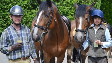 Come the weekend, Hugh and Debbie enjoy nothing more than a hack on Banstead Heath followed by a dri