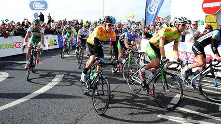 Huge crowds gathered for the 2013 Haytor summit finish