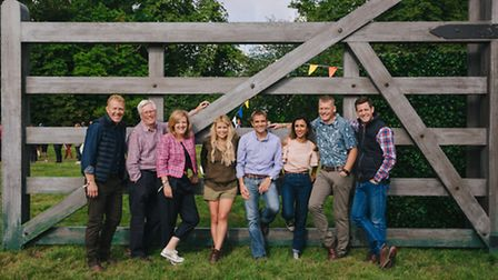 BBC's Countryfile crew at Blenheim Palace