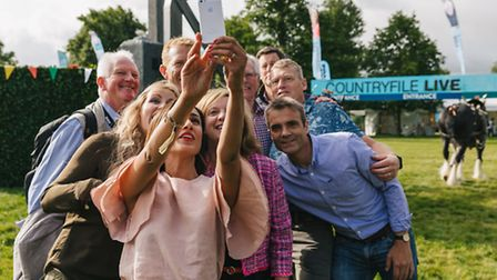 Countryfile's crew take a quick selfie