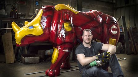 'Invincible' sponsored by Ocean Torbay BMW and MINI, with artist Stuart Wright. Photography by: Tom