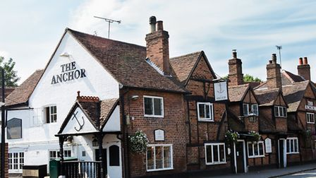 The beautiful Anchor pub is bang on Ripley High Street
