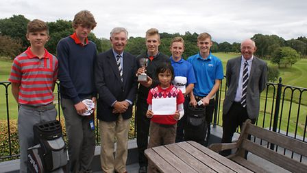 Winners group with Captain and organiser Andrew Henshall