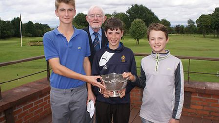 Donald MacDonald with joint winners of Fred Heap Trophy