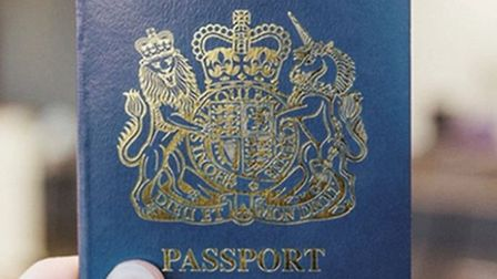 An example of the blue passport to be rolled out in 2021. Photograph: Gemalto