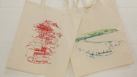 Commissioned tote bags
