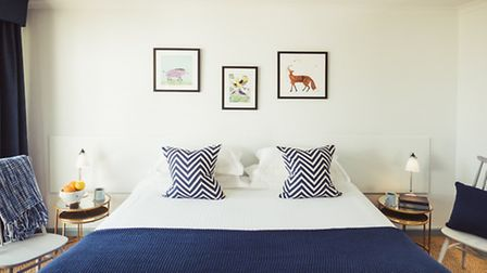 Quirky but comfortable bedrooms