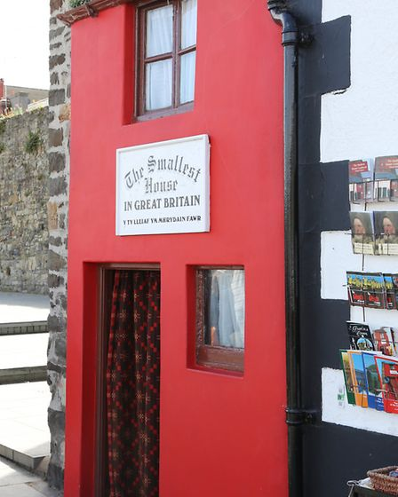 Exterior to the smallest house in Great Britain