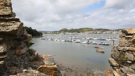 View over the quay from Conwy's Town Walls