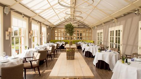 The dining room at Chewton Glen