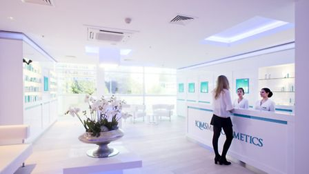 QMS Spa at the Lowry Hotel, reception area