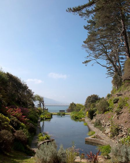 A beautiful view from the garden at Coes Faen, by Tina Jones Photography