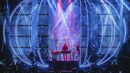 Jean Michel-Jarre on the Lovell Stage. This image courtesy of Bluedot Festival Photography