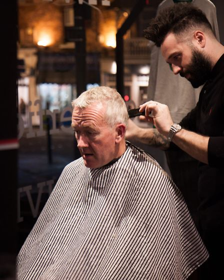 Alternative Barbering Co were offering top groomig tips at the Gent's event for SAFW - Victoria Har