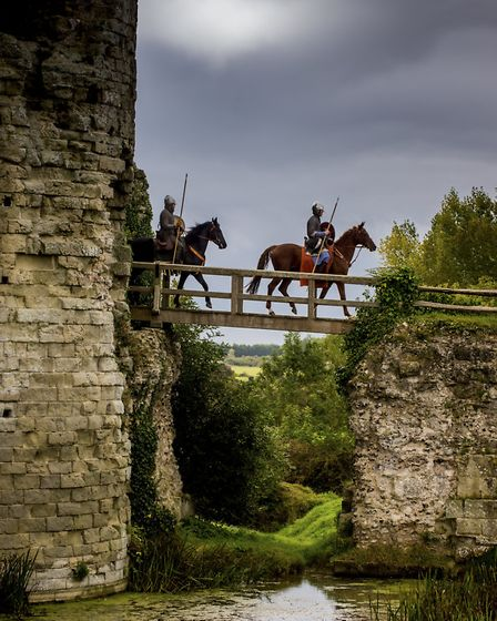 Riding out to do battle at the annual re-enactment