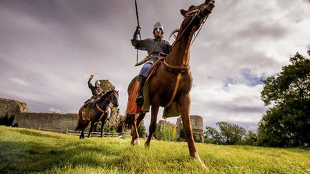 Preparing for conflict at the Battle of Hastings re-enactment