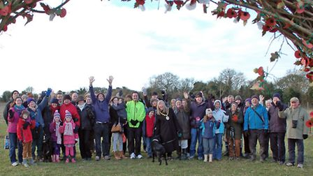 The Andover Trees United team work for two weeks in November to add trees to Harmony Woods