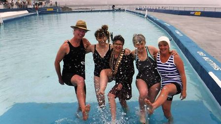 Locals celebrated the opening of the pool in its 90th birthday year with a 1920s-themed swim at the