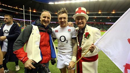 Peter Cross with Jack Nowell