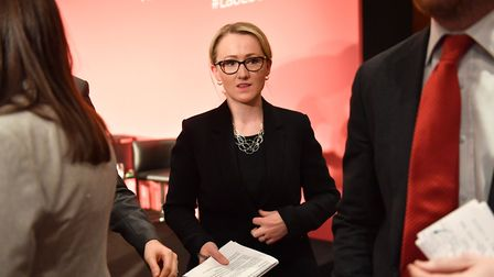 Labour leadership candidate Rebecca Long-Bailey leaves after the Labour leadership hustings in Notti
