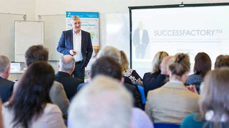 Guest speakers at the Cheshire best of business event