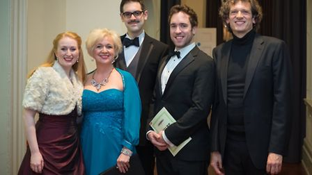 Soloists Kate Wolveridge, Llio Evans, John Savournin and Robin Bailey with conductor David Crown