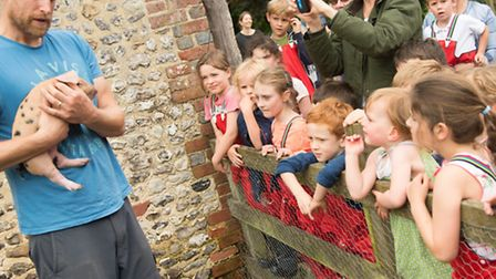 Children are encouraged to interact with the natural world