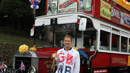Gold medal Olympian, Matthew Langridge, at his Northwich homecoming