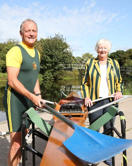 Bernie Meegan and Joyce Hooper (President) of Northwich Rowing Club