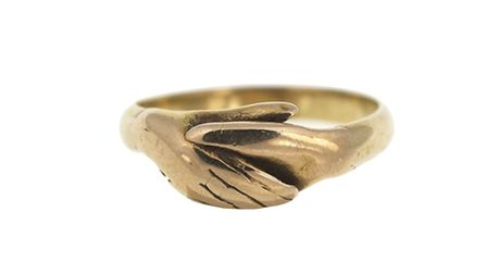 Gold 'fede' or betrothal ring, one of a pair exchanged by Vice-Admiral Horatio Nelson and Emma - N