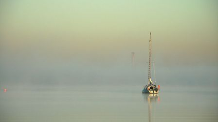 """1st Place: Ian Bourne from Gillingham, Harty Ferry (looking towards Grain). """"The ethereal quality cr"""