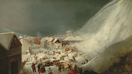 Tha Avalanche at Lewes 1836 attributed to Thomas Henwood