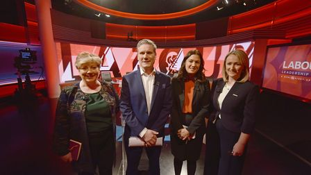 Labour leadership candidates (left to right) Emily Thornberry, Sir Kier Starmer, Lisa Nandy and Rebe