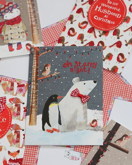 A selection of festive greeting cards