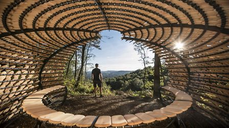 Perspectives offers shelter to walkers and cyclists in the Surrey Hills