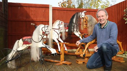Carpenter, Stephen McGreal of Wirral Rocking Horses