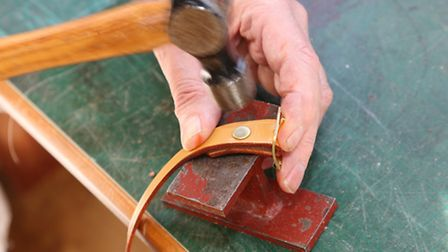 Creating accessories for a rocking horse in the workshop