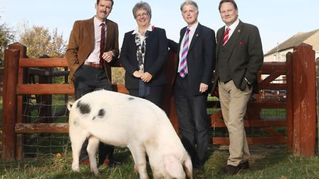 Ken Nottage and Diana Walton from The Three Counties Agricultural Society, Cllr Paul James the Lead