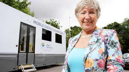 Christine Mills MBE, founder and trustee of Hope for Tomorrow in their new mobile chemotherapy unit