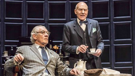 Ian McKellen and Patrick Stewart in No Man's Land. Photo by Johan Persson