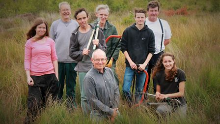 Conservation volunteers on Cheshire Wildlife Trust land