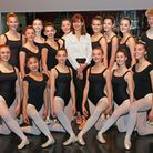 Darcey Bussell (centre) with Year 11 students